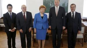 Valsts prezidents Raimonds Vējonis tikās ar Nizami Gadžavi starptautiskā centra pārstāvjiem.