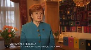 """Video: """"Gada balvas 2016 zinātnē"""" laureāte LZA akadēmiķe Vaira Vīķe-Freiberga"""
