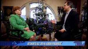 """Raidījumā """"Globuss"""" atskats uz 2016. gadu pasaulē kopā ar Vairu Vīķi-Freibergu!"""