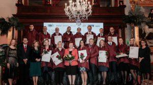 The Red Jackets un Rising Stars apbalvojumu pasniegšana Latvijas eksporta zīmoliem