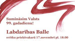 17.11.2017. Rīgas Latviešu biedrības namā norisināsies tradicionālā Labdarības balle