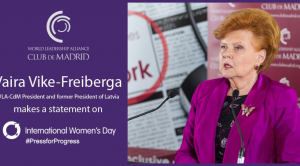 Message from Vaira Vīķe-Freiberga on the occasion of the Women's International Day