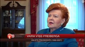 """Intervija raidījumam """"TV3 Ziņas"""". Vaira Vīķe-Freiberga: Mana ticība manas tautas spējām ir iedragāta"""