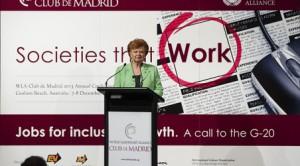 Dr Vaira Vike-Freiberga, re-elected President of the Club de Madrid