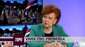 Vaira Vīķe-Freiberga: Latvijā ir sociālie slāņi, kas ir atsvešinājušies no idejas, ka pašam par sevi jāgādā