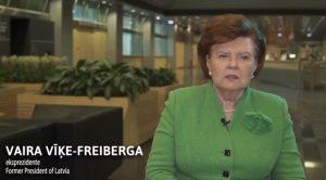 Prof., Dr.Vaira Vīķe-Freiberga dalās savās pārdomās par zinātni un tās nozīmi Latvijā