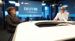 'Delfi TV ar Jāni Domburu' viesojas Vaira Vīķe-Freiberga