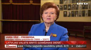 Vairas Vīķes – Freibergas sveiciens Latvijas valsts simtajā dzimšanas dienā