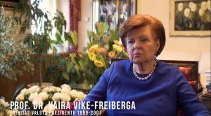 Prof. Dr. Vaira Vīķe-Freiberga par filmu SAULE BRAUCA DEBESĪS